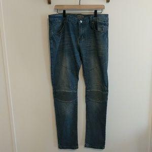 Black Skinny Flex Denim Jeans
